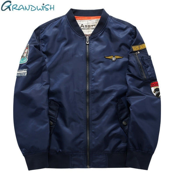 Grandwish Flight Bomber Jacket Men Plus Size 6XL Men