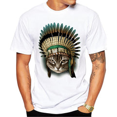 New Arrivals Fashion The Indian Chief Cat Design Men's - ar-sho.com