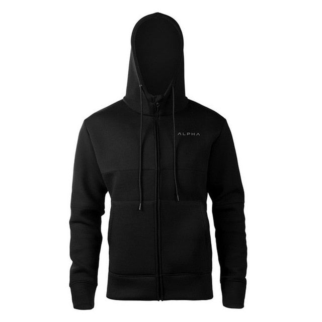 Men Hooded Sweatshirts With Black Fashion Casual