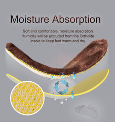 Onemix winter fur insole deodorant insoles for snow boots shoes
