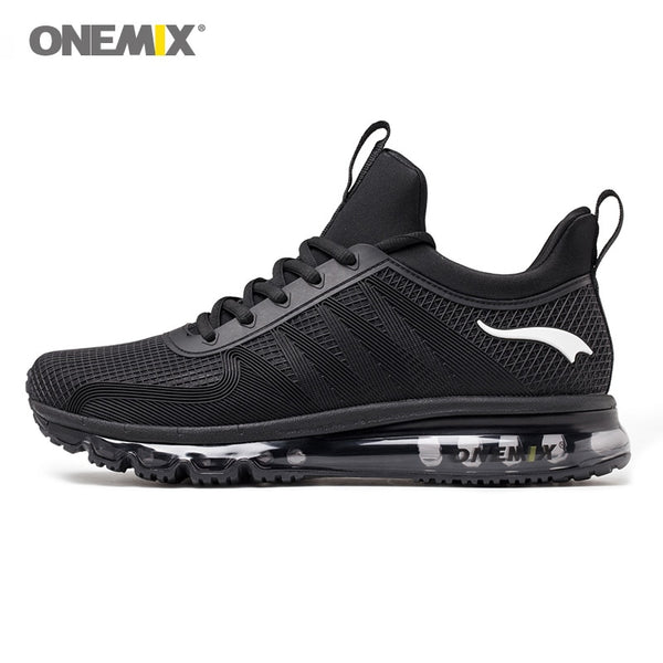 Onemix high top men running shoes shock absorption sports