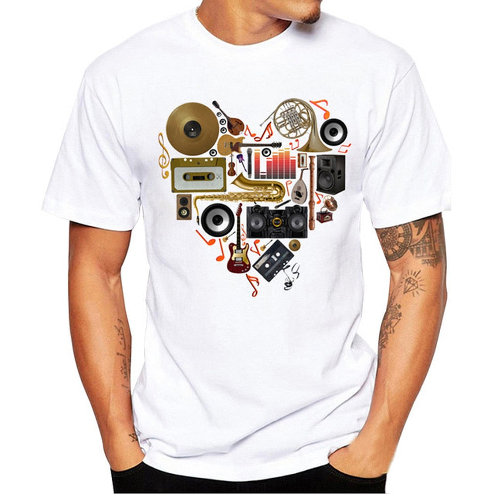 Feitong  Men Printing Tees Shirt Short Sleeve - ar-sho.com