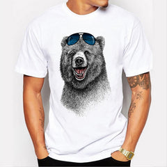 2016 Cheapest Fashion Laughing Bear Men T-shirt - ar-sho.com