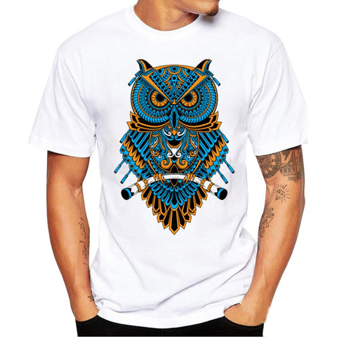 Feitong  Men Printing Tees Shirt Short Sleeve T Shirt - ar-sho.com