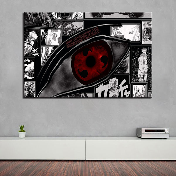 HD Prints Canvas Pictures Wall Art Framework 1 Piece/Pcs Naruto Sharingan - ar-sho.com