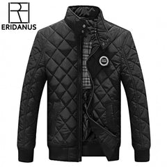 2017 Casual Quilted Jacket Men Warm Black Brand Outwear - ar-sho.com