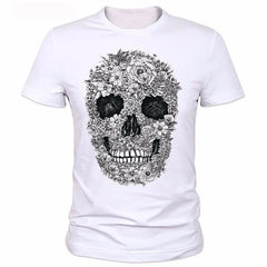Skull fashion T-shirt Tees Tops Men Cotton O Neck T - ar-sho.com