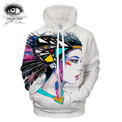 Feathers by Pixie cold Art Girl Printed 3D Hoodies Men Women