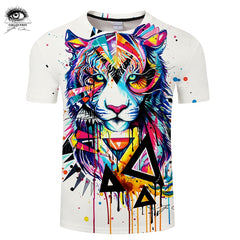 Shattered Tiger by Pixie cold Art T-shirts Men tshirt