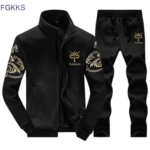 FGKKS Brand Men Hoodies Set 2018 New Spring Fashion Sporting Suit - ar-sho.com