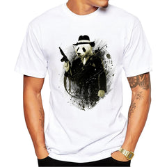 Short Sleeve Men T Shirt New Fashion The Real Gangster Printed T-shirt - ar-sho.com