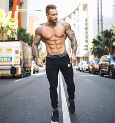 New Men Cotton Sweatpants Male Gyms Fitness