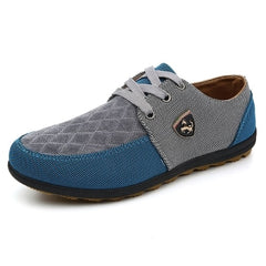 GOXPACER Autumn Men Shoes Men Flats Canvas Lacing