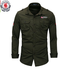 Fredd Marshall 2018 New 100% Cotton Military Shirt - ar-sho.com