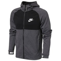 Nike Original New Arrival 2018 NSW AV15 HOODIE FZ FLC Men's Running Jacket Hooded Windproof Sportswear 861743 - ar-sho.com
