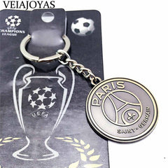 2018 Hot Europe's Football leagues Soccer Club Logo Bronze Keychains - ar-sho.com