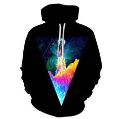Space Hoodies Colorful Sweatshirts Men Women Pullover