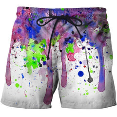 CoolWatercolor By Brizbazaar Art Printed Beach Shorts