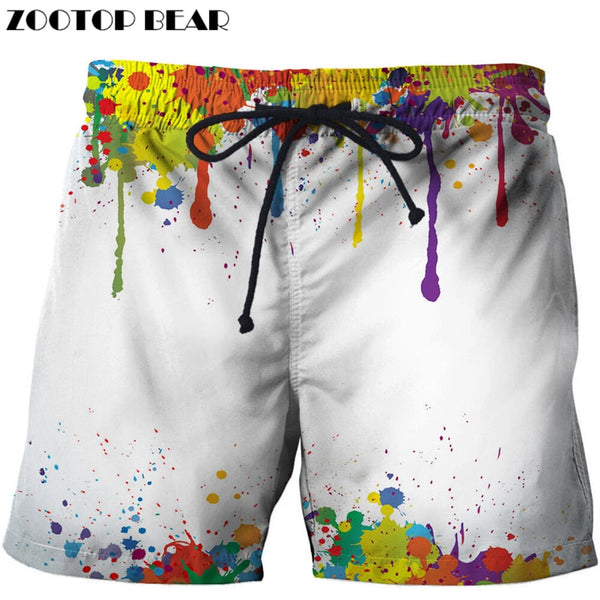 Casual Printed Beach Shorts Masculino Men 3d