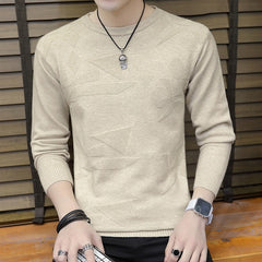 Autumn Winter Sweater Men Pullover Simple Style Cotton Knitted - ar-sho.com