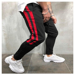 Men Casual Gym Slim Sports Fit Trousers
