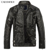 CARANFIER Mens Leather Jackets Men Jacket High Quality Classic Motorcycle Bike Cowboy - ar-sho.com