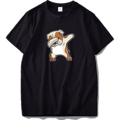 English Bulldog Tshirt Summer Men Cotton T-shirt - ar-sho.com
