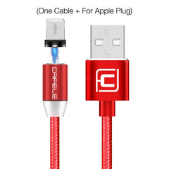 CAFELE 1M LED Magnetic USB Cable Magnet Plug USB Type C Micro USB IOS Plug for samsung - ar-sho.com