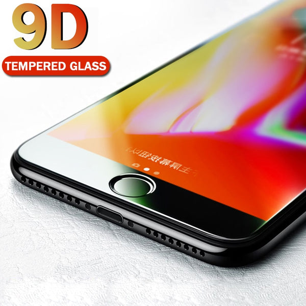 MEIZE 9D Protective Glass for iPhone 7 Screen Protector iPhone 8 Xr Xs Xs Max - ar-sho.com