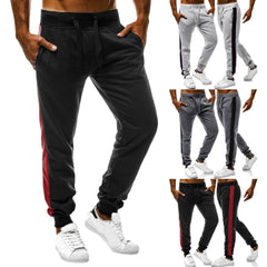Mens Autumn Joggers Patchwork Casual Drawstring Sweatpants