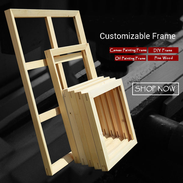 Custom Size DIY Frame For Oil Painting Canvas Print - ar-sho.com