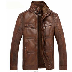 NIANJEEP Leather Jacket Men Coats Brand High Quality PU Outerwear Men - ar-sho.com