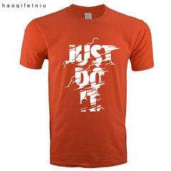 New High quality brand t shirt men 2018 new Fashion Just Do It - ar-sho.com