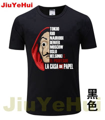 La Casa De Papel Money Heist TV Brand Men's T Shirts - ar-sho.com