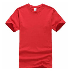 New Solid color T Shirt Mens Black And White 100% cotton T-shirts - ar-sho.com
