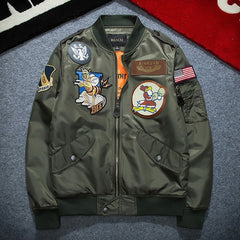 Ma1 Army Green Military Ma-1 Flight Jacket Pilot Air Force
