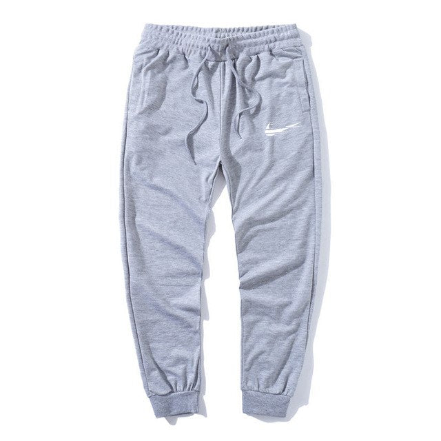 2018 New Men Print logo Cotton Jogger Pants Spring