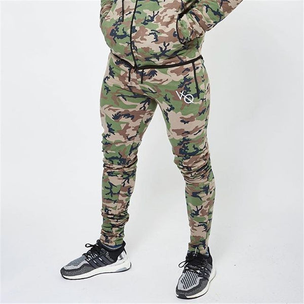 DERMSPE army camouflage Pants Casual Skinny botton