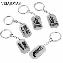 Stainless Steel Game Keychains Red Dead Redemption 2