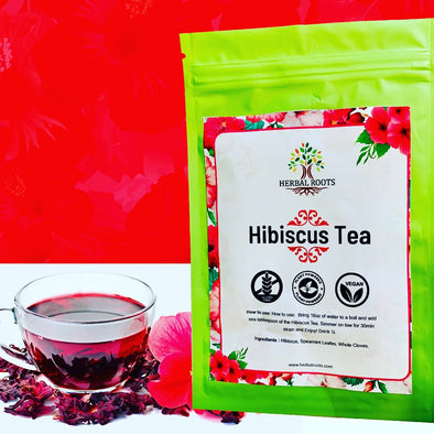 Hibiscus Mint Herbal Tea CAFFEINE FREE