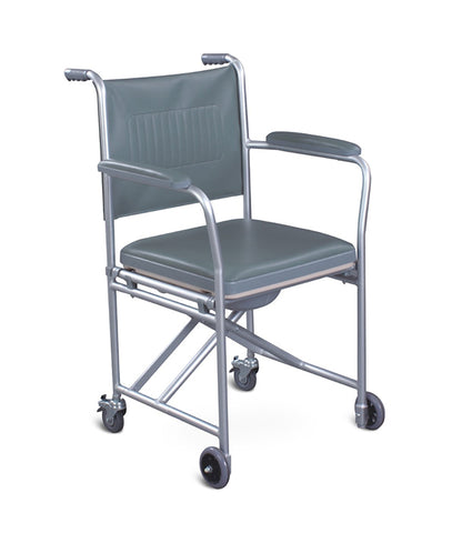 Foldable Chrome Commode Wheelchair FS8831L