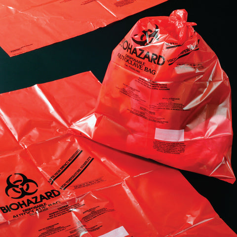 Red Autoclave Resistant Bag 48x61cm