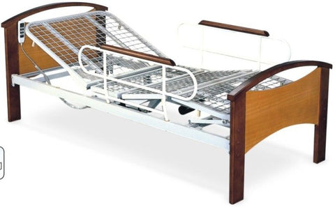 2-Function Electric Bed W/Metal Net & Detachable Guardrail