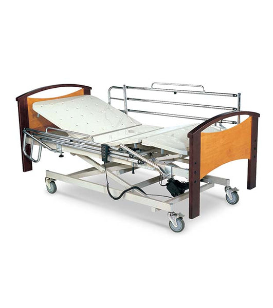 3-Function Electric Bed W/Metal Bed & Folding Guardrail