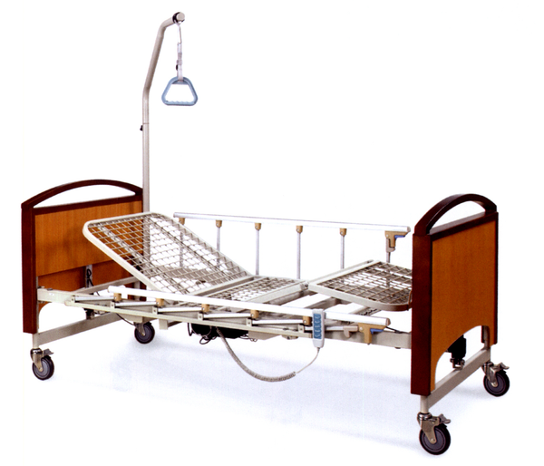 3-Function Electric Bed w/Metal Net & Removable Guardrail
