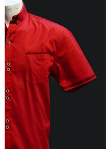 chemise homme rouge coupe slim