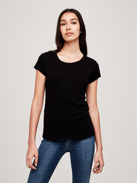 L'Agence Cory Scoop Neck - Black