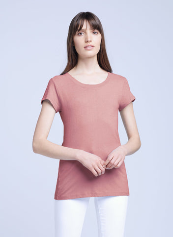 L'Agence - Cory S/S Crew Neck Top - Rose Tan