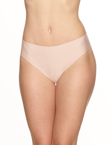 Commando - Butter Mid-Rise Thong - Beige