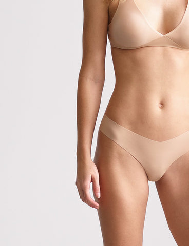 Commando - Classic Solid Thong - Beige